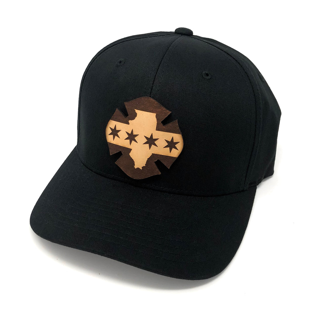 IL Leather Flag Hat