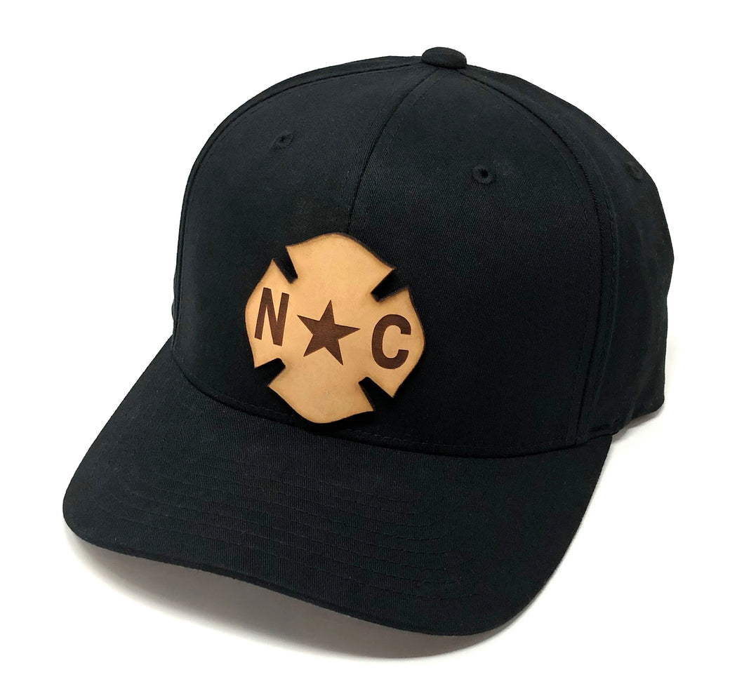 NC Leather Flag Hat