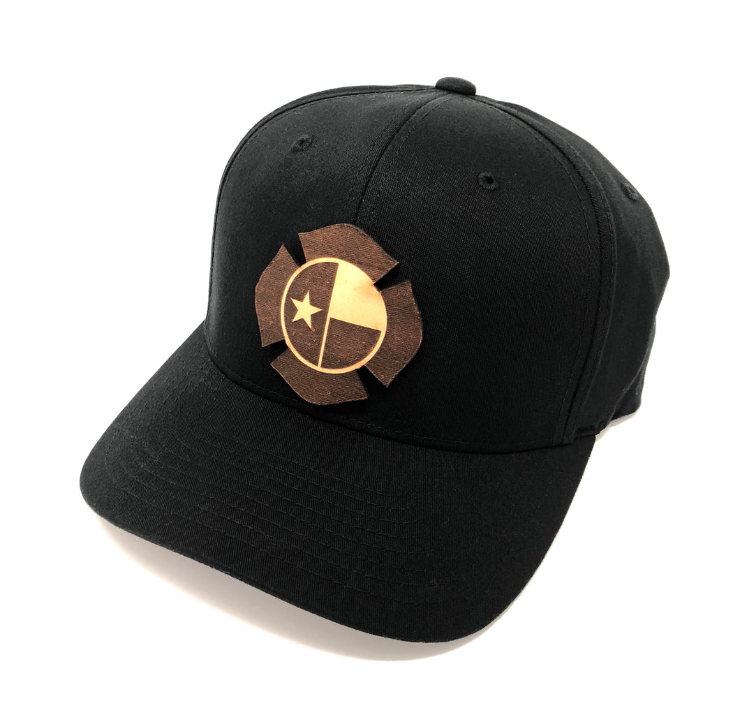 TX Leather Flag Hat