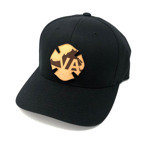 VA Leather Flag Hat