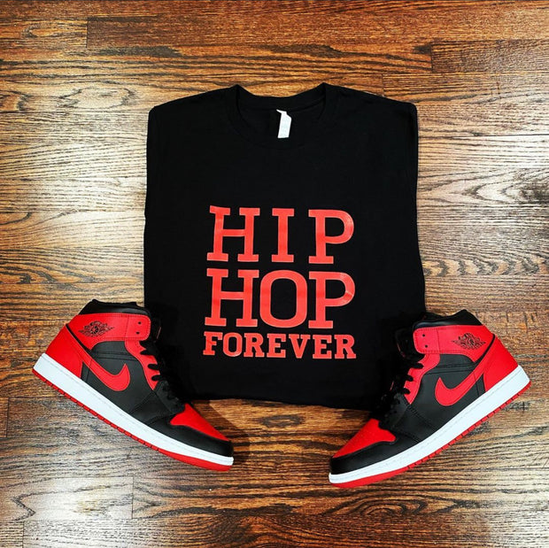 HIP HOP FOREVER BLK/Red Unisex T Shirt