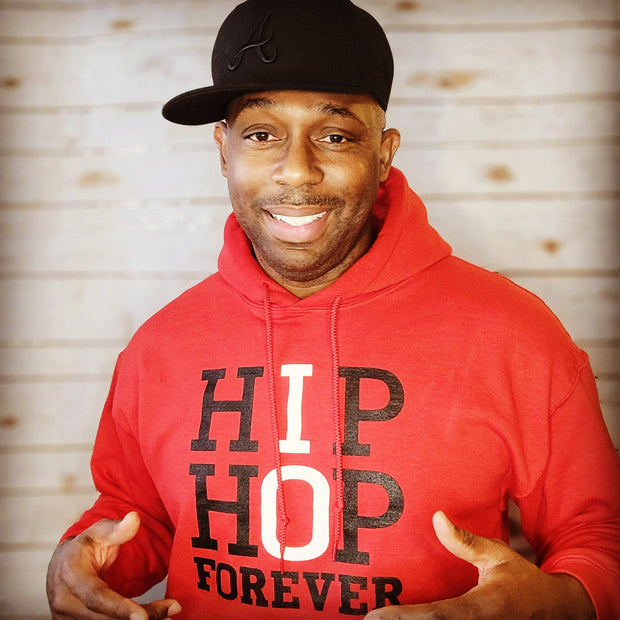 HIP HOP FOREVER Red/BLK White Hoodie
