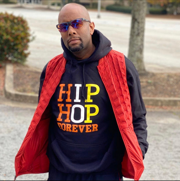 HIP HOP FOREVER Orange, White, Yellow Hoodie