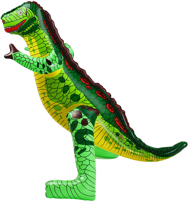 Inflatable Dinosaur - Colorful Blow Up Dinosaur Trex for Adults & Kids - Jurassic Park Great for Birthday Home & Pool Party Decoration Supplies