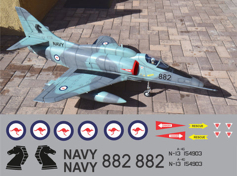 A-4 Skyhawk Royal Australian Navy N13-154903 Graphics Set