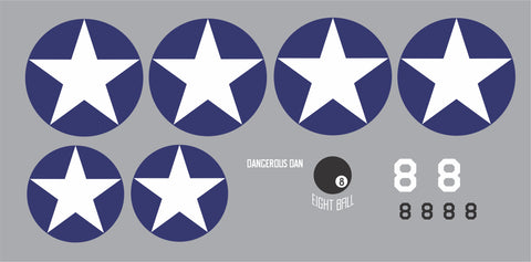 F4U Corsair Dangerous Dan Graphics Set