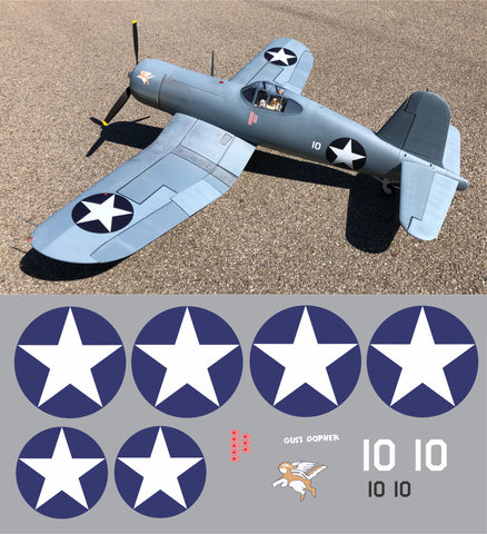 F4U Corsair Gus's Gopher Graphics Set