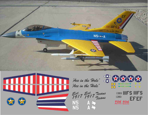 F-16 Ace In The Hole 90th Anniversary Graphics Set