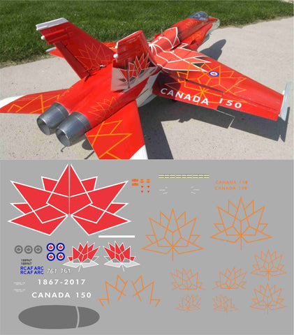 F-18 Canadian 150 Years Demo Team Graphics Set