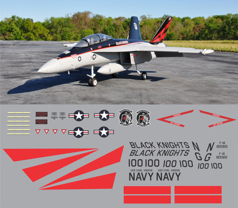 F-18 Black Knights Graphics Set