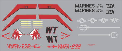 F-18 VMFA-232 Red Devils Graphics Set