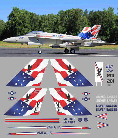 F-18 VMFA-115 Silver Eagles Graphics Set