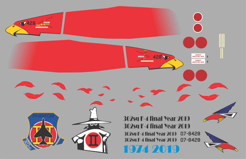 F-4 Phanton 302nd SQ Final Year Graphics Set