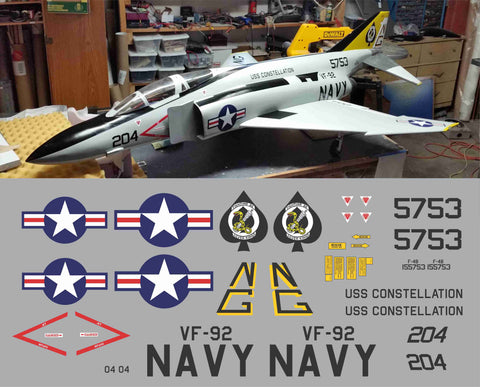 F-4 Phantom VF-92 Silver Kings Graphics Set
