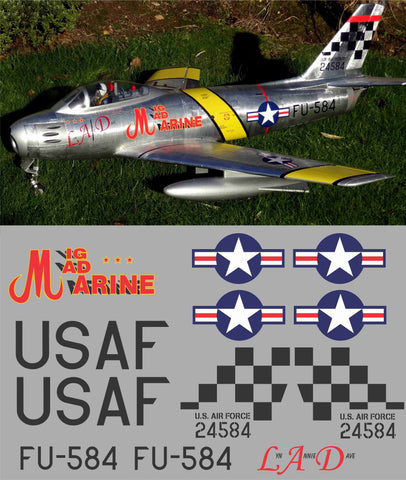 F-86 FU-584 Mig Mad Marine Graphics Set