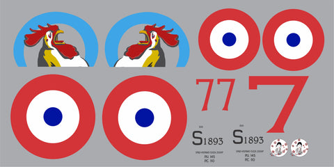 SPAD XIII L'escadrille 48 Graphics Set
