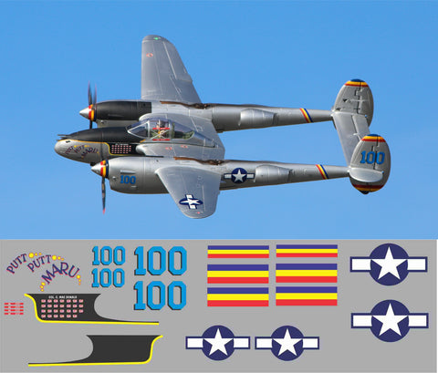 P-38 Putt Putt Maru Graphics Set