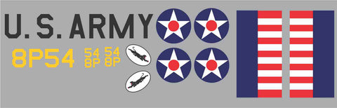 P-40 35th  Pursuit Squadron 54/8P Graphics Set