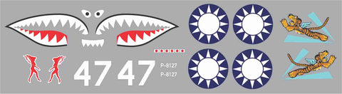 P-40 Hells Angels #47 Graphics Set