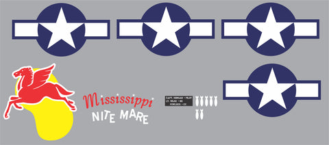 P-61 Mississippi Nitemare Graphics Set