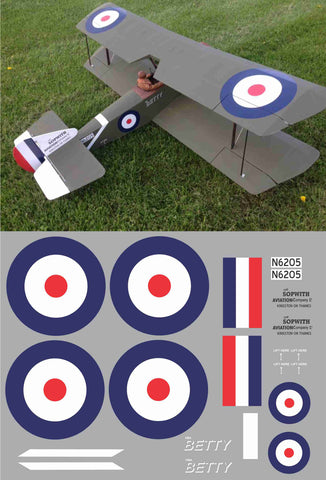Sopwith Pup Betty N6205 Graphics Set