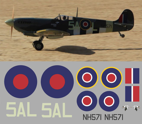 Spitfire 5AL NH571 Graphics Set