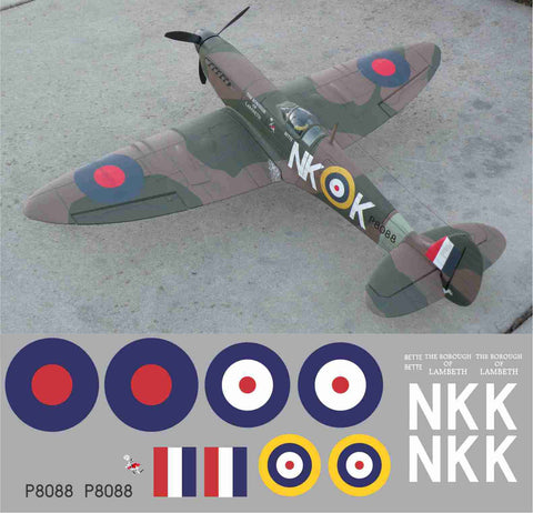 "Spitfire ""Borough of Lambeth"" NKK P8088 Graphics Set"
