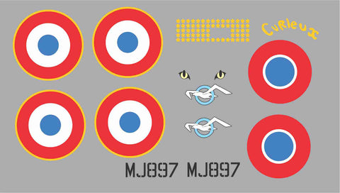 "Spitfire French Air Force ""Curleux"" MJ897 Graphics Set"