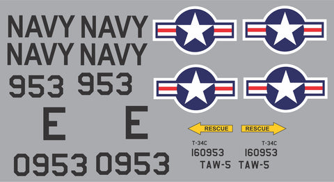 T-34C TAW-5 #953 Graphics Set