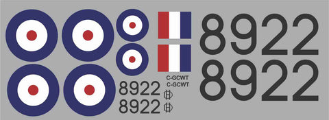 Tiger Moth RCAF 8922 Graphics Set