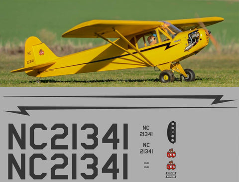 Traditional Yellow Piper Cub Graphics Set
