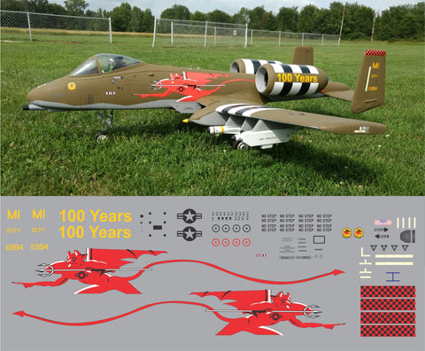 A-10 Red Devils 100 Year Anniversary Scheme Graphics Set
