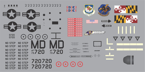 A-10 Maryland ANG 104th FS, 175th FW Graphics Set