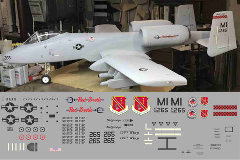 A-10 Selfridge Red Devils Graphics Set