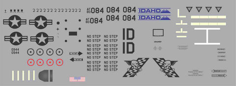 A-10  Idaho Skull Blazers Graphics Set
