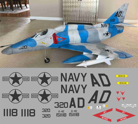 A-4 Skyhawk BuNo. 151118 Graphics Set