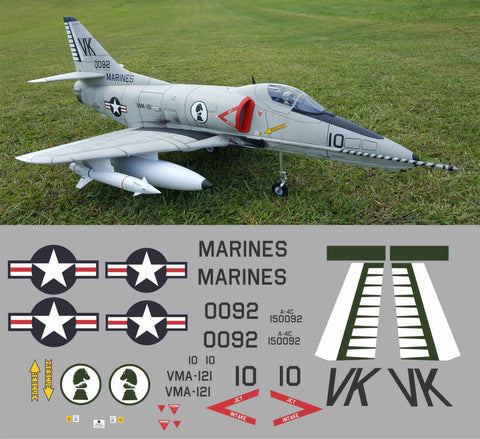 A-4C VMA-121 Green Knights BuNo 150092 Graphics Set