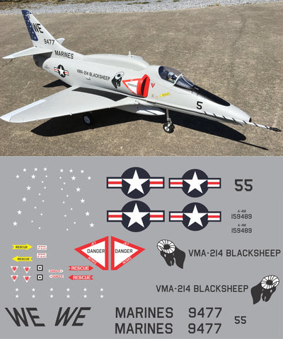 A-4 VMA-214 Blacksheep #149489 Graphics Set