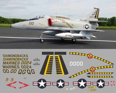A-4 Skyhawk Diamond Backs BuNo. 160024 Graphics Set