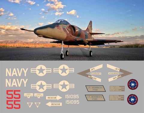 A-4 Skyhawk NFWS 'Top Gun' BuNo 151095 Graphics Set