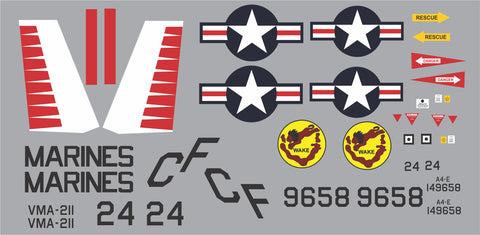 A-4E Skyhawk VMA-211 BuNo 149658 Graphics Set