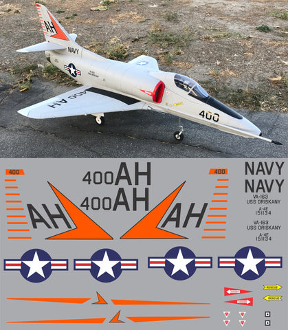 A-4E Skyhawk BuNos 151134, VA-164 Graphics Set