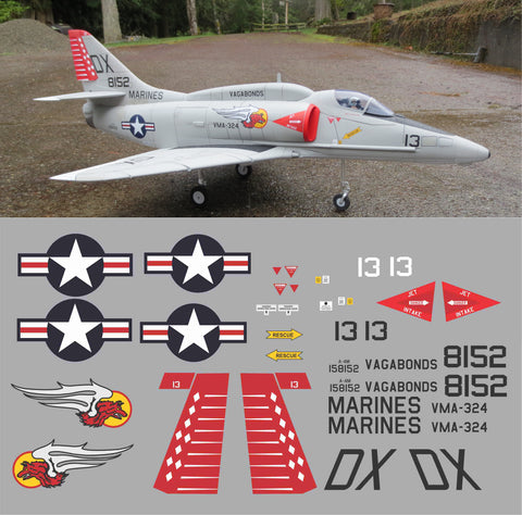 A-4M Skyhawk VMA-324 158152 Graphics Set
