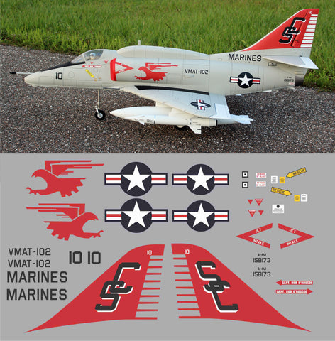 A-4 Skyhawk VMAT-102 # 158173 Graphics Set