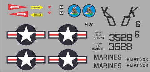 A-4 Skyhawk VMAT203 #153528 Graphics Set