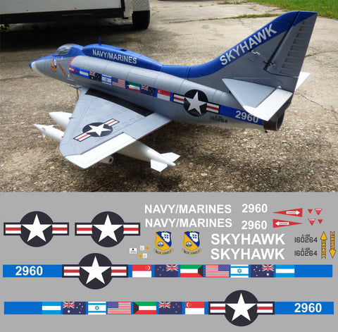 "A-4M Skyhawk ""The Last Skyhawk"" BuNo 160264 Graphics Set"