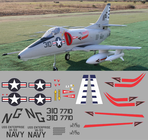 A-4C Skyhawk BuNo 147710 USS Enterprise Graphics Set