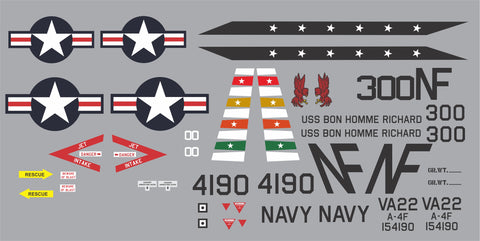 A-4F Skyhawk VA-22 BuNo 154190 Graphics Set