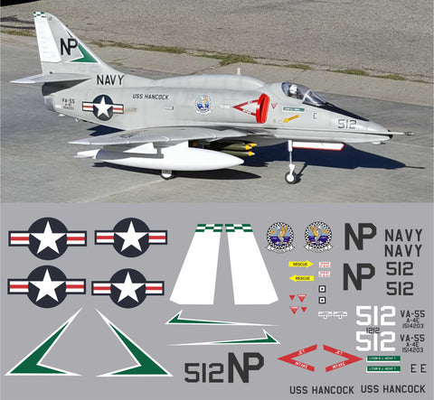 A-4# Skyhawk VA-55 BuNo. 154203 Graphics Set
