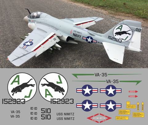 A-6 Intruder VA-35 Black Panthers Graphics Set